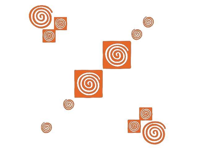 Naklejka dekoracyjna welurowa geometryczna 671024-1 Klimaty Domu