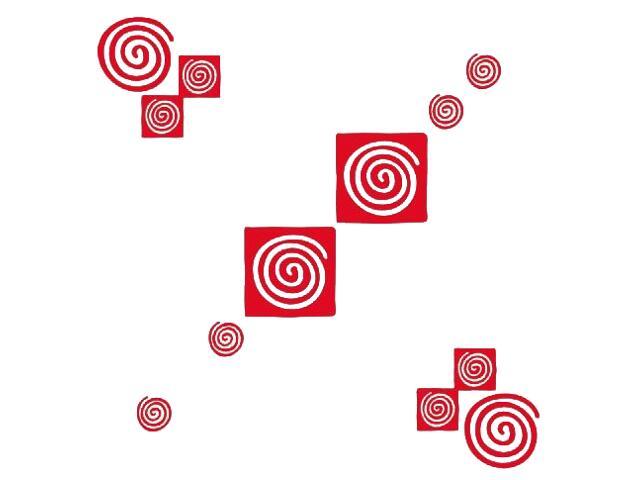 Naklejka dekoracyjna welurowa geometryczna 671024-6 Klimaty Domu
