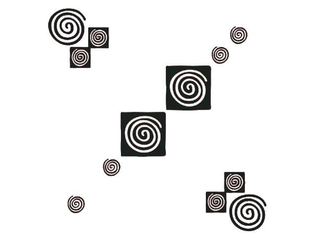 Naklejka dekoracyjna welurowa geometryczna 671024-7 Klimaty Domu