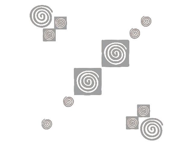 Naklejka dekoracyjna welurowa geometryczna 671024-12 Klimaty Domu