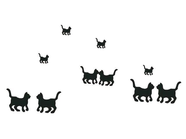 Naklejka dekoracyjna welurowa koty 671025-7 Klimaty Domu