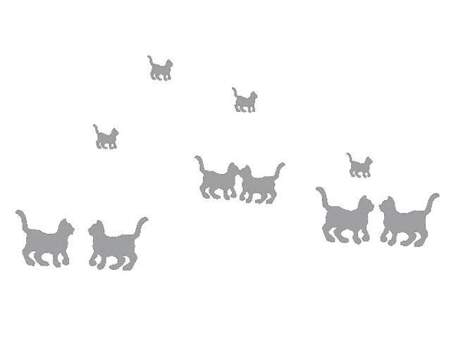 Naklejka dekoracyjna welurowa koty 671025-12 Klimaty Domu