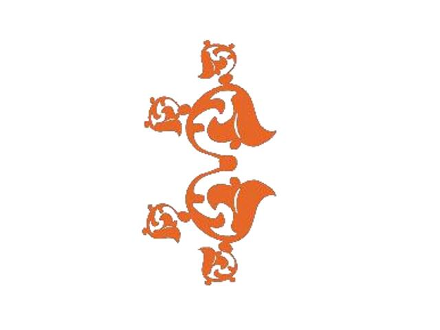 Naklejka dekoracyjna welurowa ornament 671026-1 Klimaty Domu