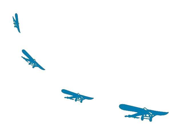 Naklejka dekoracyjna welurowa samoloty 671027-4 Klimaty Domu