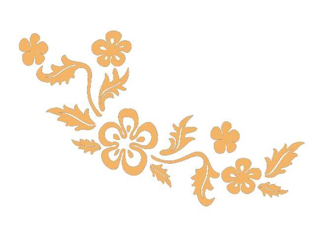 Naklejka dekoracyjna welurowa kwiaty 675029-14 Klimaty Domu