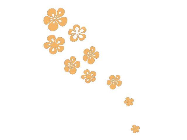 Naklejka dekoracyjna welurowa kwiaty 675028-14 Klimaty Domu