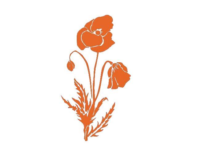 Naklejka dekoracyjna welurowa mak 675011-1 Klimaty Domu