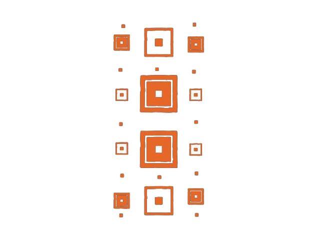 Naklejka dekoracyjna welurowa kwadraty 671040-1 Klimaty Domu