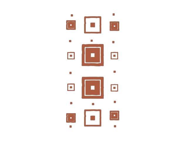 Naklejka dekoracyjna welurowa kwadraty 671040-2 Klimaty Domu
