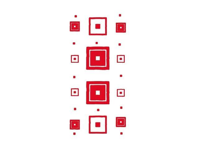 Naklejka dekoracyjna welurowa kwadraty 671040-6 Klimaty Domu