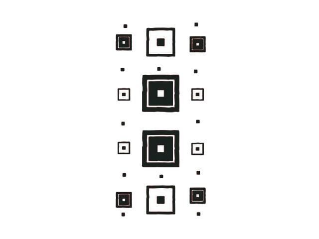 Naklejka dekoracyjna welurowa kwadraty 671040-7 Klimaty Domu