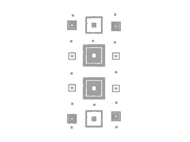Naklejka dekoracyjna welurowa kwadraty 671040-12 Klimaty Domu