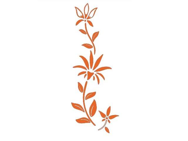Naklejka dekoracyjna welurowa roślina 675038-1 Klimaty Domu