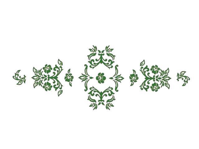 Naklejka dekoracyjna welurowa ornament 672004-9 Klimaty Domu