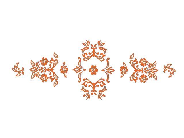 Naklejka dekoracyjna welurowa ornament 672004-1 Klimaty Domu