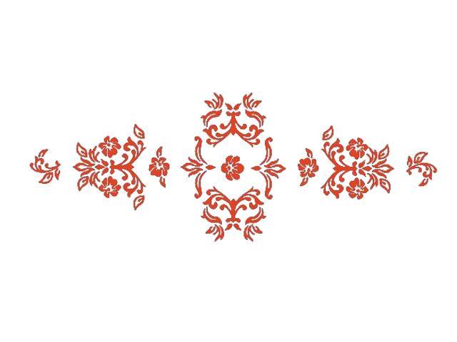Naklejka dekoracyjna welurowa ornament 672004-18 Klimaty Domu