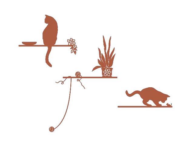 Naklejka dekoracyjna welurowa koty 672005-2 Klimaty Domu