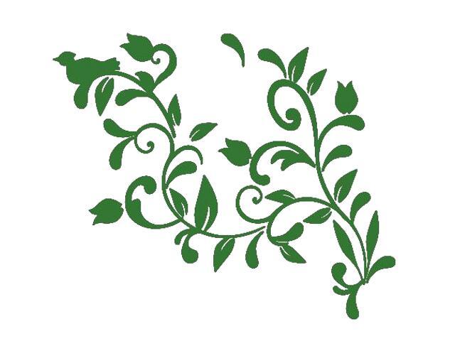 Naklejka dekoracyjna welurowa roślina 675005-9 Klimaty Domu