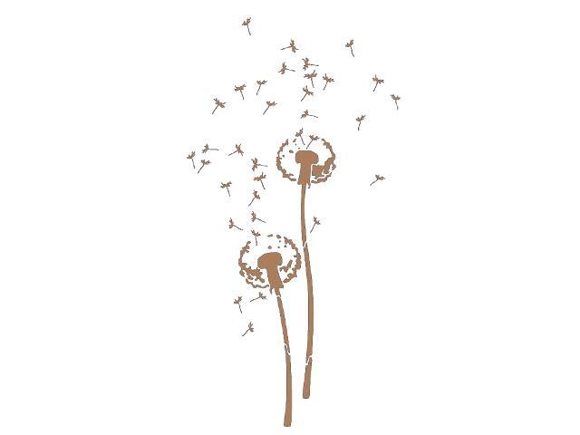 Naklejka dekoracyjna welurowa dmuchawce 679111-8 Klimaty Domu