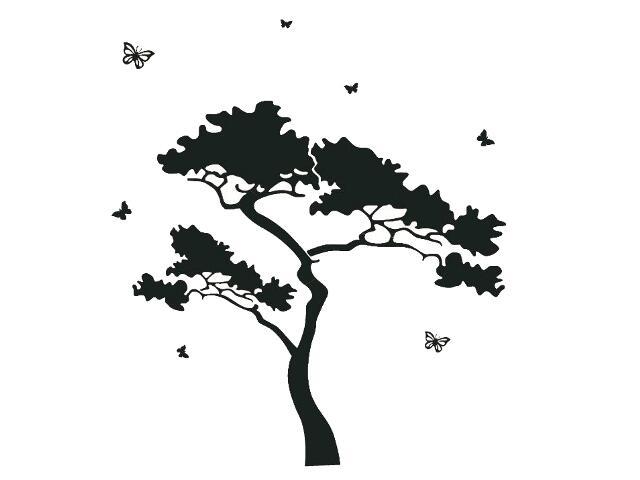 Naklejka dekoracyjna welurowa drzewo 679010-7 Klimaty Domu