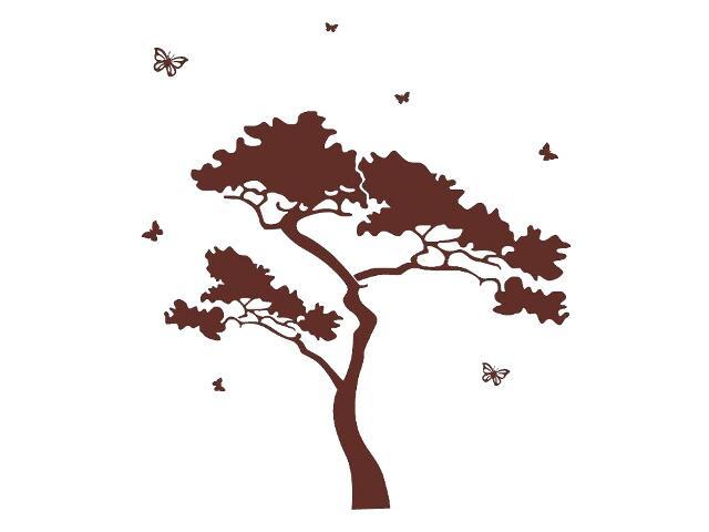 Naklejka dekoracyjna welurowa drzewo 679010-17 Klimaty Domu
