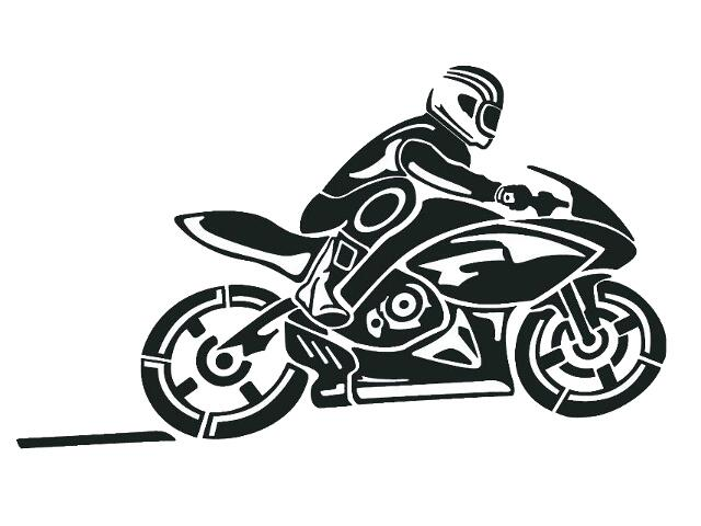 Naklejka dekoracyjna welurowa motocykl 679061-7 Klimaty Domu