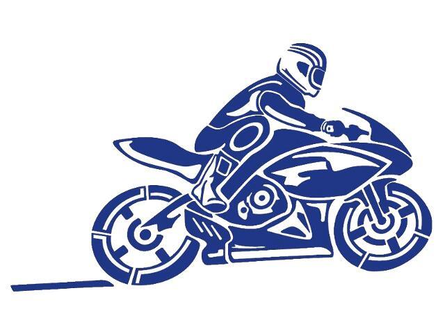 Naklejka dekoracyjna welurowa motocykl 679061-13 Klimaty Domu
