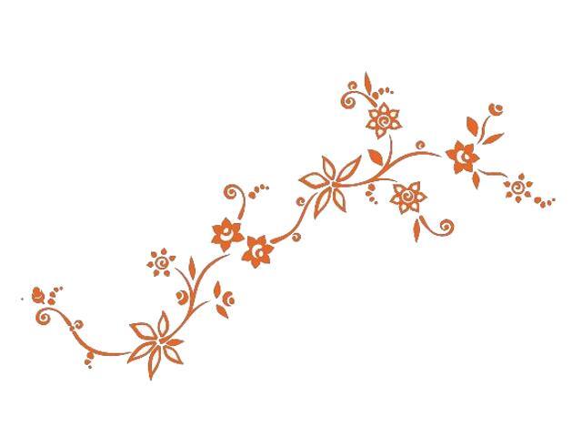 Naklejka dekoracyjna welurowa kwiaty 679001-1 Klimaty Domu