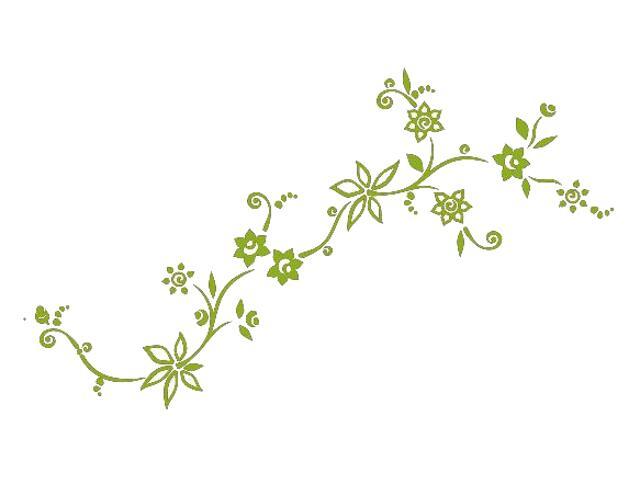 Naklejka dekoracyjna welurowa kwiaty 679001-5 Klimaty Domu