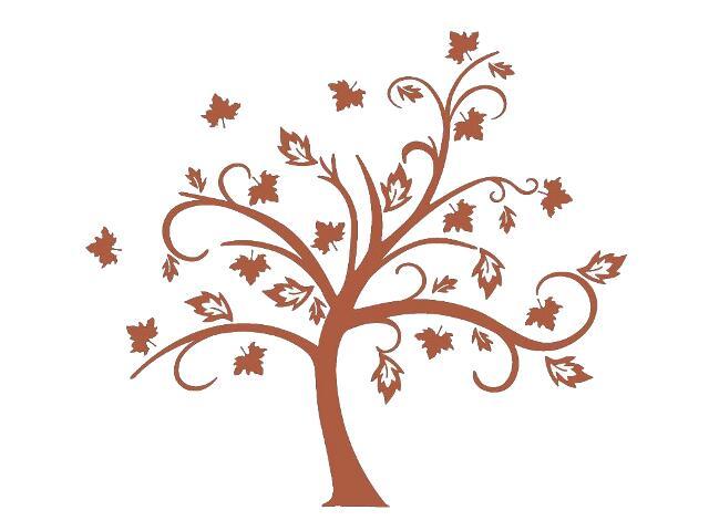 Naklejka dekoracyjna welurowa drzewo 679036-2 Klimaty Domu