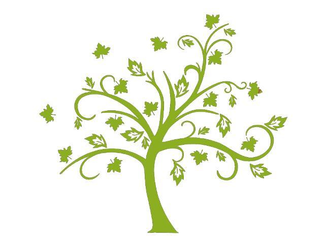 Naklejka dekoracyjna welurowa drzewo 679036-5 Klimaty Domu