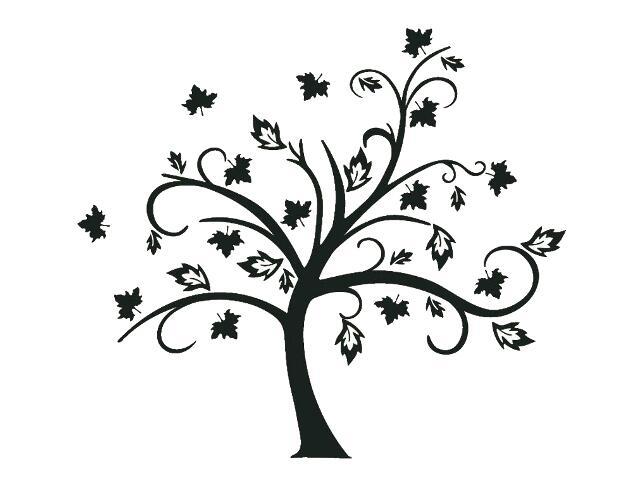 Naklejka dekoracyjna welurowa drzewo 679036-7 Klimaty Domu