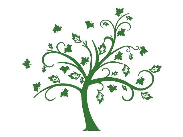 Naklejka dekoracyjna welurowa drzewo 679036-9 Klimaty Domu
