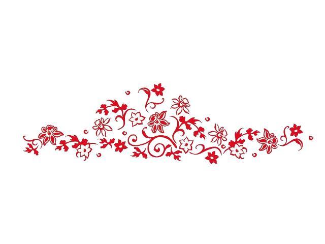 Naklejka dekoracyjna welurowa kwiaty 679040-6 Klimaty Domu