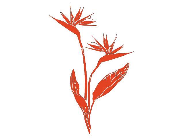 Naklejka dekoracyjna welurowa roślina 679042-18 Klimaty Domu