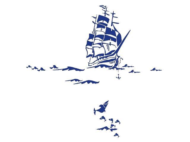 Naklejka dekoracyjna welurowa statek 679055-13 Klimaty Domu