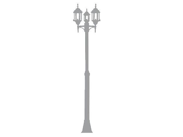 Naklejka dekoracyjna welurowa latarnia 679026-12 Klimaty Domu