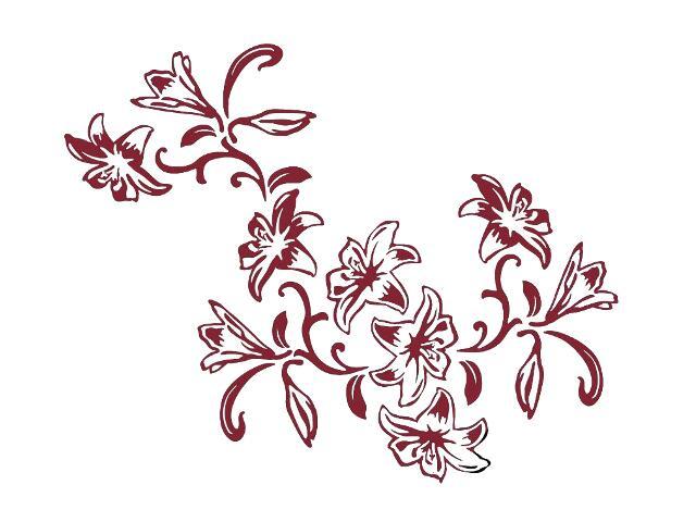 Naklejka dekoracyjna welurowa kwiaty 679139-11 Klimaty Domu