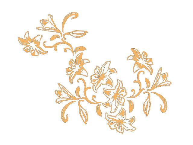 Naklejka dekoracyjna welurowa kwiaty 679139-14 Klimaty Domu