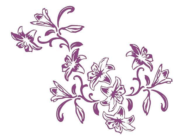 Naklejka dekoracyjna welurowa kwiaty 679139-16 Klimaty Domu