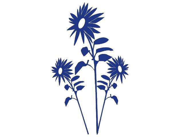 Naklejka dekoracyjna welurowa kwiaty 679034-14 Klimaty Domu