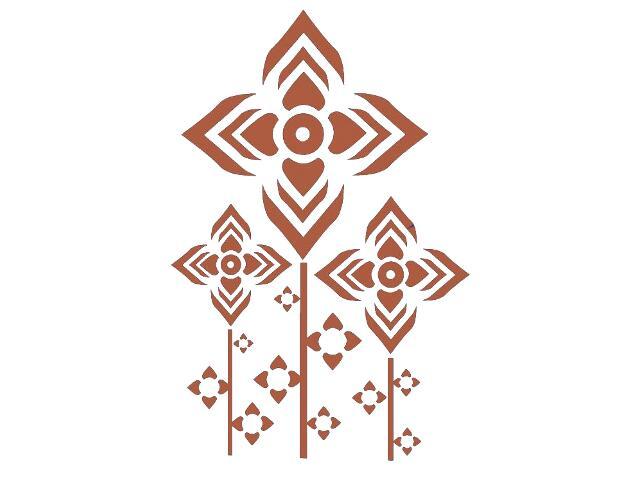 Naklejka dekoracyjna welurowa geometryczna 679032-2 Klimaty Domu
