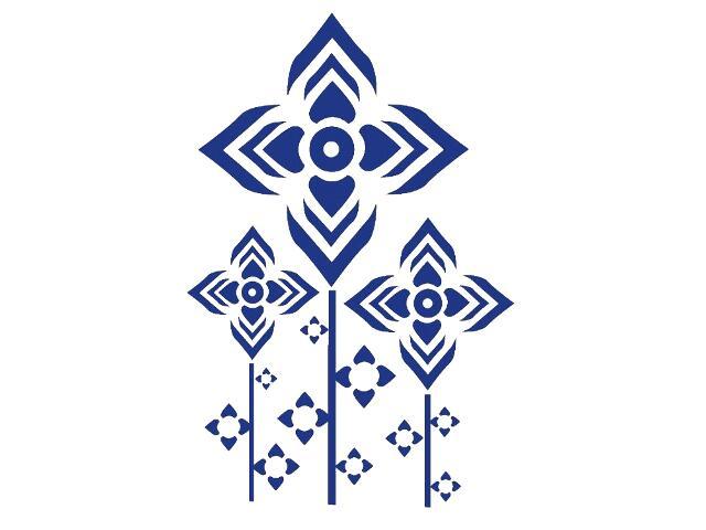 Naklejka dekoracyjna welurowa geometryczna 679032-13 Klimaty Domu