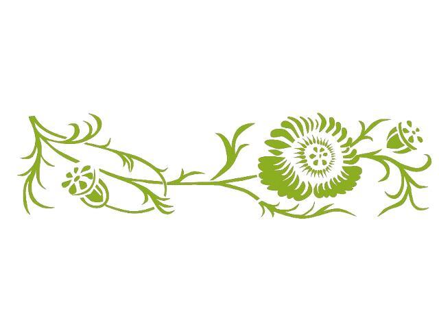 Naklejka dekoracyjna welurowa kwiaty 679025-5 Klimaty Domu