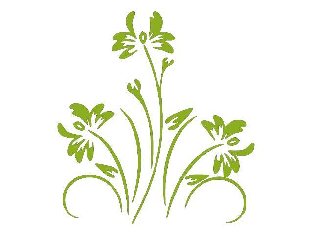 Naklejka dekoracyjna welurowa kwiaty 679024-5 Klimaty Domu