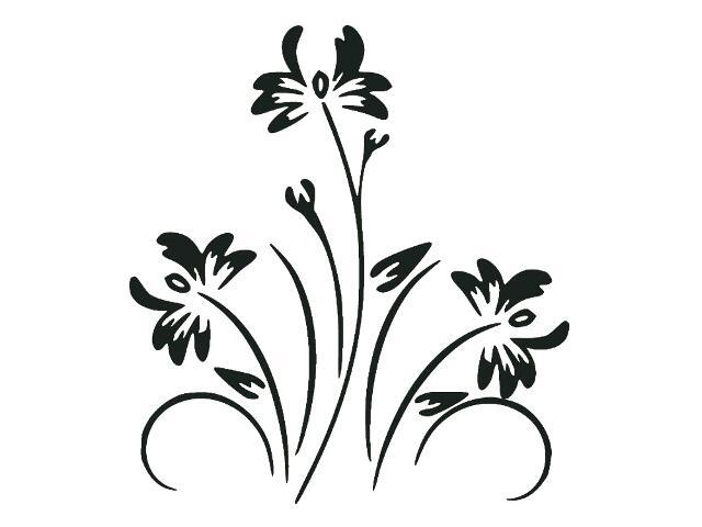 Naklejka dekoracyjna welurowa kwiaty 679024-7 Klimaty Domu