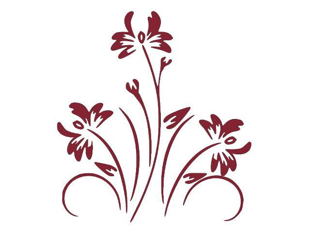 Naklejka dekoracyjna welurowa kwiaty 679024-11 Klimaty Domu