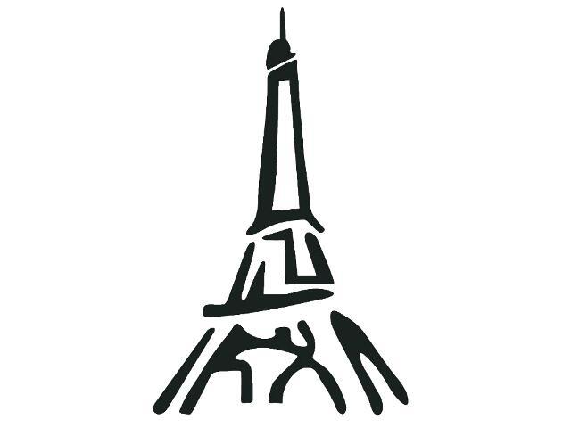 Naklejka dekoracyjna welurowa wieża 679123-7 Klimaty Domu