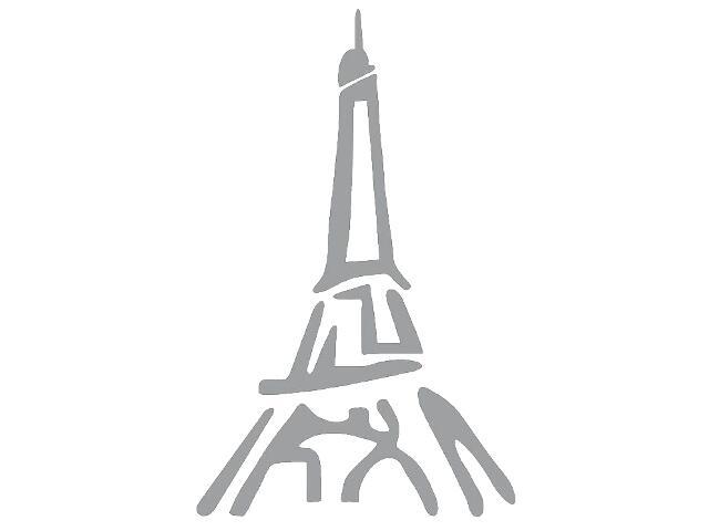 Naklejka dekoracyjna welurowa wieża 679123-12 Klimaty Domu