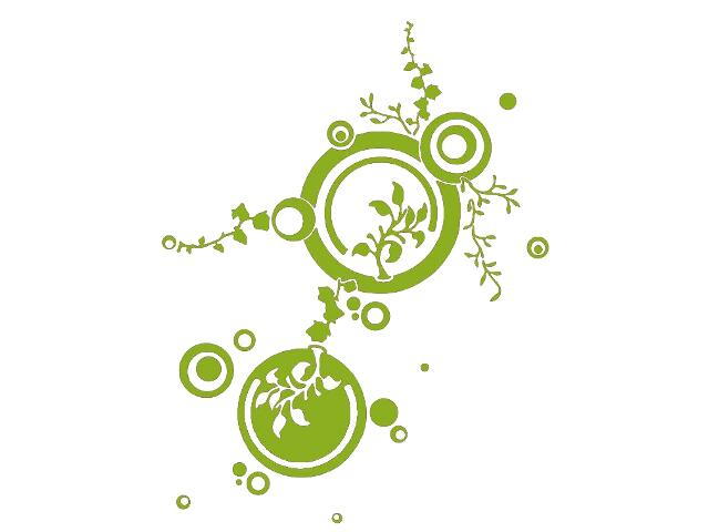 Naklejka dekoracyjna welurowa ornament 679022-5 Klimaty Domu